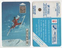 TELECARTE 50 UNITES FRANCE TELECOM PARTENAIRE XVIe JEUX OLYMPIQUES D'HIVER ALBERTVILLE 1992 - 12 91 TIRAGE 4 000 000 EX - Jeux Olympiques
