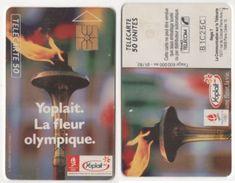 TELECARTE 50 UNITES XVIe JEUX OLYMPIQUES D'HIVER ALBERTVILLE 1992 - YOPLAIT LA FLEUR OLYMPIQUE - 01 92 TIRAGE 600 000 EX - Jeux Olympiques