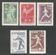 Finland 1945,Sport Set,Sc B69-B73,VF MNG (NR-8) - Finland