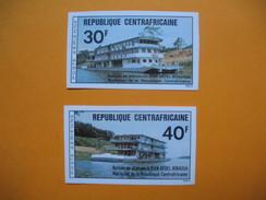 Timbre Non Dentelé  N° PA 136 Et PA 137  Bateaux De Plaisance De M. Bokassa 1976 - Central African Republic
