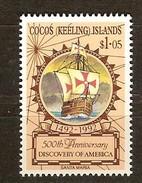 Cocos Keeling Islands 1992 Yvertn° 250 ***  MNH Cote 4 Euro Bateaux Ships Schepen - Cocos (Keeling) Islands