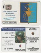 TELECARTE 50 UNITES ARMEE DE TERRE - LES TRANSMISSIONS L'ARME QUI UNIT LES ARMES - 09 92 TIRAGE 250 000 EX - Armée