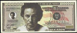 BILLET FANTAISIE COMMEMORATIF . 1000 000  DOLLARS . BRUCE FREDERICK JOSEPH SPRINGSTEEN . - United States Of America