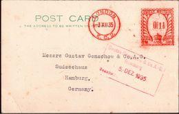 ! 1935 London, Swiss Bank Corporation - Poststempel - Freistempel