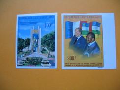 Timbre Non Dentelé  N° PA 138 Et PA 139  Visites Du Président V. Giscard D'Estaing 1976 - Centrafricaine (République)
