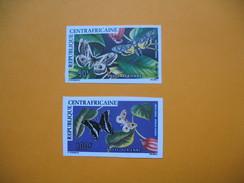 Timbre Non Dentelé  N° PA 148 Et PA 149   Papillons  1976 - Central African Republic