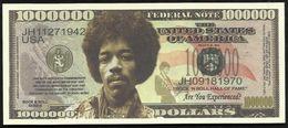 BILLET FANTAISIE COMMEMORATIF . 1000 000  DOLLARS . JIMI HENDRIX . - United States Of America