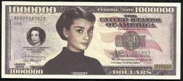 BILLET FANTAISIE COMMEMORATIF . 1000 000  DOLLARS . AUDREY HEPBURN . - United States Of America