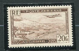 5352a  - ALGERIE    PA 4A * Quasi ** 20Fr Brun  Type II   Avion Survolant La Rade D'Alger     SUPERBE - Algeria (1924-1962)