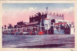 Cannes, Le Casino En 1934. Carte Ayant Voyagé, Belles Voitures D'époque - Photos