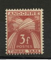 ANDORRE FR -  TIMBRE TAXE -  N° Yvert  35  ** - Timbres-taxe