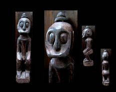 Ancienne Figure De Bornéo / Borneo Vintage Figue - Esculturas