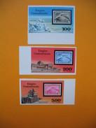 Timbre Non Dentelé  N° PA 167 à 169  Vols Des Zepplins   1977 - Centrafricaine (République)