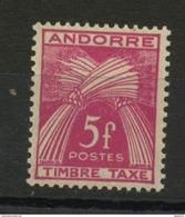 ANDORRE FR -  TIMBRE TAXE -  N° Yvert  37  ** - Timbres-taxe