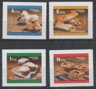 PORTUGAL , 2017, MNH, FOOD, DESSERTS, 4v SELF-ADHESIVE - Food