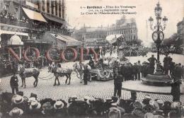 (33) Bordeaux - Fête Des Vendanges Septembre 1909 - Le Char De L'Ostréiculture Marennes - Bordeaux