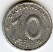 Allemagne Germany RDA DDR 10 Pfennig 1948 A J 1503 KM 3 - [ 6] 1949-1990 : RDA - Rep. Dem. Tedesca