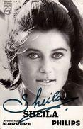 CHANTEUSE : SHEILA - CARTE PUBLICITAIRE / ADVERTISING CARD : DISQUES PHILIPS ~ 9 X 14 CM - ANNÉE : 1967 (w-897) - Musique Et Musiciens