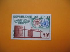 Timbre Non Dentelé   N° 159  4 ème Journée Météorologique Mondiale  1964 Avec Charnière - Republic Of Congo (1960-64)