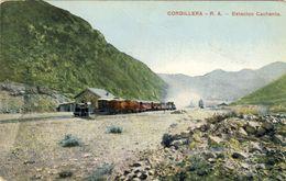 REPUBLICA ARGENTINA - CORDILLERA - R. A.  Estacion Cachenta (1911) - Argentine