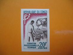 Timbre Non Dentelé   N° 160  Formation Professionnelle Technique   1964 Avec Charnière - Republic Of Congo (1960-64)