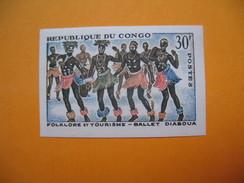 Timbre Non Dentelé   N° 164  Folklore Et Tourisme  1964 Avec Charnière - République Du Congo (1960-64)