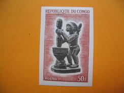 Timbre Non Dentelé   N° 168  Sculpture Indigène  1964 Avec Charnière - République Du Congo (1960-64)