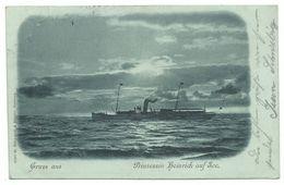 Prinzessin Heinrich Auf See Mondschein-AK 1900 - Dampfer
