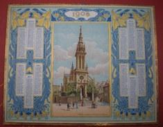 ALMANACH DES POSTES ET DES TÉLÉGRAPHES   1908 -  Saint Brieuc,la Chapelle De Notre Dame De L'espérance. - Calendari