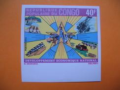 Timbre Non Dentelé   N° 368  Développement économique National  1975 - Republic Of Congo (1960-64)