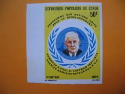 Timbre Non Dentelé   N° 369  P. G. Hoffmann Administrateur De L'O.N.U.  1975 - Republic Of Congo (1960-64)