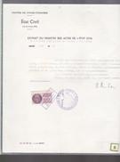 Timbre  De Dimension   100   Francs  Affaires étrangères   Sur Acte  1947 - Fiscali