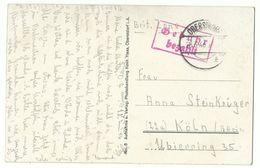 """OBERSTDORF """"Gebühr Bezahlt"""" 28.6.46 Auf AK Einödsbach Nach Köln - American,British And Russian Zone"""