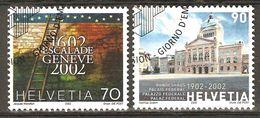 Zu 1045-1046 / Mi 1782-1783 / YT 1707-1708 Obl. 1er Jour SBK 4,80 - Used Stamps
