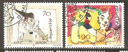Zu 1051-1052 / Mi 1794-1795 / YT 1719-1720 EUROPA 2002 Cirque Obl. 1er Jour SBK 4,80 - Used Stamps