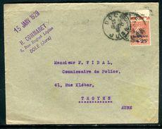 France - Enveloppe De Dole Pour Troyes En 1929, Affr. Caisse D 'Amortissement  , Vignette Au Verso - Ref O120 - Marcophilie (Lettres)