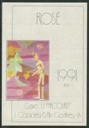 Rare // Etiquette // Rosé 1991, Cave Le Parcouret, L.Coppey & Fils Conthey, Valais, Suisse - Etiquettes