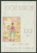 Rare // Etiquette // Dôle Blanche 1991, Cave Le Parcouret, L.Coppey & Fils Conthey, Valais, Suisse - Etiquettes