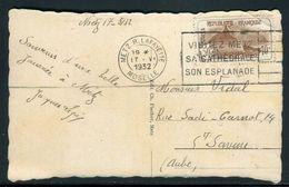 France - Orphelin Seul Sur Carte Postale De Metz Pour Ste Savine En 1932 - Ref O123 - Storia Postale