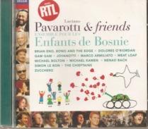 """CD   Pavarotti  &  Friends  """"  Pour Les Enfants De Bosnie  """"  De  1996  Avec  17  Titres - Other - Italian Music"""