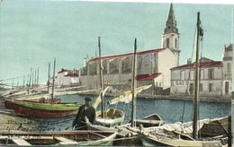 Les Martigues Eglise De Jonquière Canal Du Roi Bateaux Colorisée L.V. & Ci Recto Verso AQUA PHOTO Chocolat De La Havane - Martigues