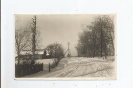 NARVA (ESTONIE) CARTE PHOTO PAYSAGE ENNEIGE 14. EESTI TALV KULAS DER WINTER IM DORF 1933 - Estonie