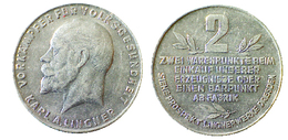 03809 GETTONE TOKEN JETON ADVERTISING VENDING VORAMPFER FUR VOLKSGESUNDEHEIT KARL A. LINGNER 2 WARENPUNKTE ALU - Allemagne