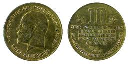 02813 GETTONE TOKEN JETON ADVERTISING VENDING VORAMPFER FUR VOLKSGESUNDEHEIT KARL A. LINGNER 10 WARENPUNKTE BRASS - Allemagne