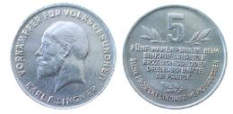 02829 GETTONE TOKEN JETON ADVERTISING VENDING VORAMPFER FUR VOLKSGESUNDEHEIT KARL A. LINGNER 5 WARENPUNKTE ALU - Allemagne