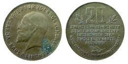 03768 GETTONE TOKEN JETON ADVERTISING VENDING VORAMPFER FUR VOLKSGESUNDEHEIT KARL A. LINGNER 20 WARENPUNKTE BRONZE - Allemagne