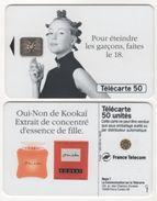 TELECARTE 50 UNITES PARFUM OUI-NON DE KOOKAÏ EXTRAIT DE CONCENTRE D'ESSENCE DE FILLE - 06 94 - 1 000 000 EX - Parfum