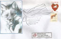 USA: Le Renard Roux (Zorro Rojo) Sur Lettre Etats-Unis Adressée En Californie - Hunde