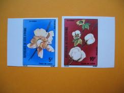Timbre Non Dentelé   N° 387 à 388  Culture Du Coton  1975 - Ivory Coast (1960-...)