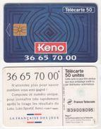 TELECARTE 50 UNITES KENO - LA FRANCAISE DES JEUX - 11 93 - 1 000 000 EX - Jeux